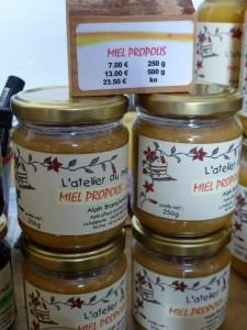 Le mélange miel-propolis