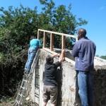 pendant la fabrication du toit